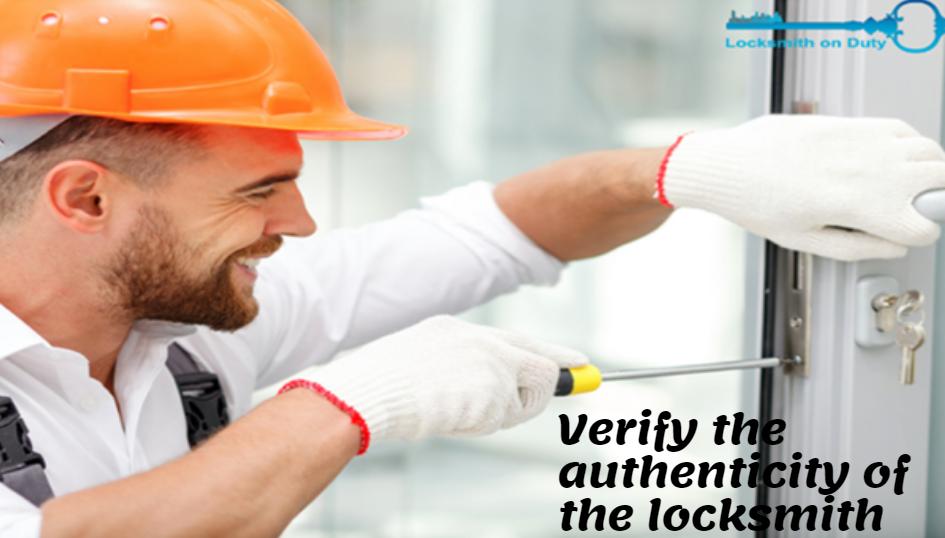 Verify the authenticity of the locksmith